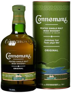 Connemara Peated Single Malt Irish Whiskey in Geschenkpackung | 40 % vol | 0,7 l