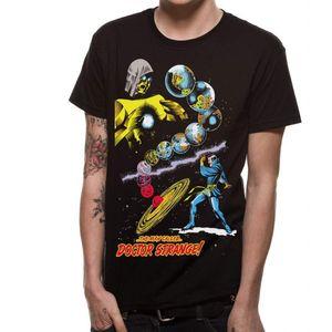Marvel Unisex Man Called Dr Strange Design T-Shirt CI505 (S) (Schwarz)