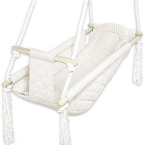 BlueKitty Wiege; Schaukel; Liegestuhl für Kinder; Babyschaukel; Holzschaukel
