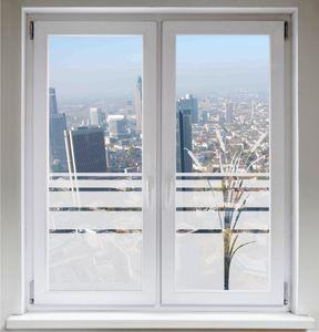 INDIGOS UG Sichtschutzfolie Fensterbild Fensterfolie Glasdekor Rohrkolben Bambus satiniert blickdicht ORACAL® - 1000mm Breite x 500mm Höhe