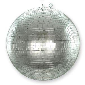Spiegelkugel 40cm - silber - Safety - Diskokugel Echtglas - 10x10mm Spiegel PROFI