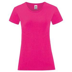 Fruit of the Loom Ladies Iconic 150 T-Shirt, Farbe:fuchsia, Größe:2XL