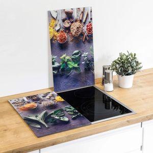 2er Set Herdabdeckplatten Ceranfeldabdeckung Abstellplatte Herdabdeckung