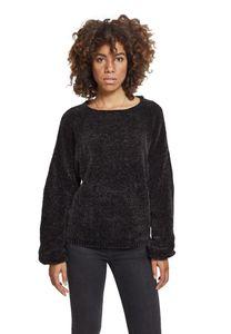 Urban Classics Ladies Oversize Chenille Sweater TB2354, color:black, size:S