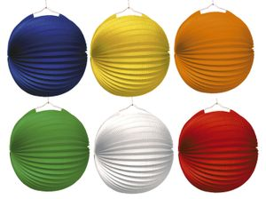 Lampion Ballon - Ø 25 cm, 6 Farben sortiert, 10 St.