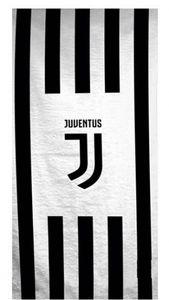 Juventus Badetuch Logo 70 x 140 cm weiß / schwarz