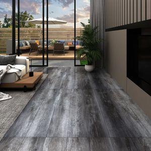 PVC-Laminat-Dielen 5,26 m² 2 mm Glänzend Grau