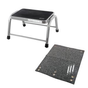Trittstufe inkl. passender Fußmatte, Aluminium, max. 150kg