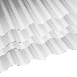 Dachplatten-Set 3x2.50 m, PVC-Welldachplatten Profil 76/18 mm, farblos klar
