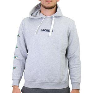 Lacoste Sport Hoodie Sweatshirt Herren Kapuzenpullover Hellgrau (SH7221 CCA) Größe: XXL