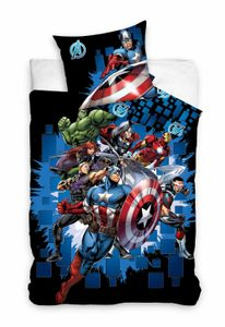 Carbotex bettbezug Avengers 140 x 200 cm Baumwolle blau