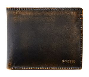 FOSSIL Wade Bifold With Flip ID Black