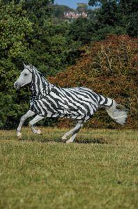 BUCAS Buzz-Off Fliegendecke Zebra Full-Neck, zebra, 120 cm