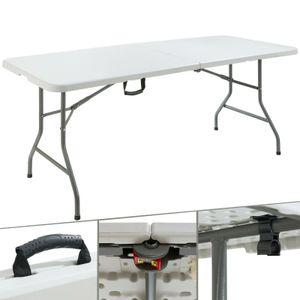 AREBOS Klapptisch Buffettisch Gartentisch Esstisch Campingtisch Tisch klappbar 180 cm - direkt vom Hersteller