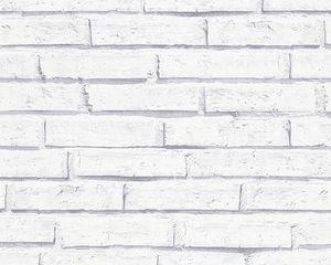 A.S. Création Papiertapete Authentic Walls grau weiß 10,05 m x 0,53 m 301692