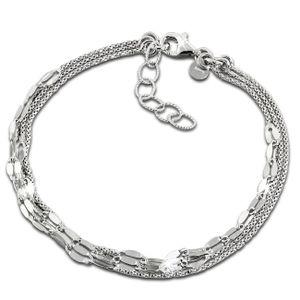 SilberDream Armband 21cm 925 Sterling Silber Plättchen Damen Schmuck SDA1208J