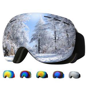Skibrille für Erwachsene, große kugelförmige Brille, Cocker Myopia-Brille, doppelter Antibeschlag HX06