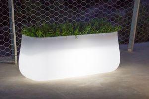 Pflanzkübel Pflanztrog beleuchtet LED Kunststoff Weiß VASCA