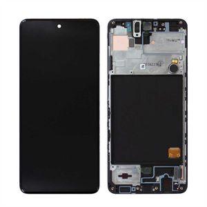 Original Samsung Galaxy A51 2020 A515F Bildschirm  AMOLED Digitizer LCD Display Touch Screen (Service Pack) Schwarz GH82-21680A / GH82-21669A / GH82-22084A