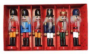 6 Stück Nussknacker Dekofiguren Set ca. 12,5 cm hoch