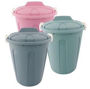 Wäschetonne Abfalleimer Mülleimer farbig mit Deckel 23 Liter 3 Stück Set