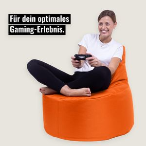 Kissenwelt-Berlin Sitzsack Gamer Riesensitzsack Kinder Sitzsäcke Erwachsene Indoor Beanbag Outdoor Gaming (Orange)