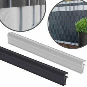 Zaun Sichtschutzstreifen CLIPS (anthrazit) einfache Montage idealer für dickere Bänder 10St: Anthrazit