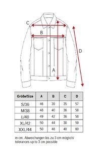 Damen Jeans Jacke Kurze Übergangsjacke Basic Used Denim Weste, Farben:Dunkelgrau, Größe:40