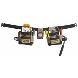 Toolpack Werkzeuggürtel mit zwei Taschen klassisch 360.056