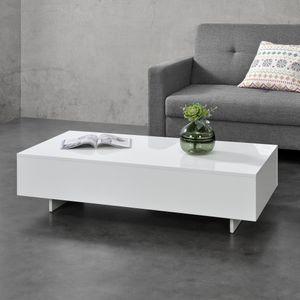 Couchtisch Braunschweig Beistelltisch 115 x 55 x 31 cm Sofatisch Wohnzimmertisch Kaffetisch Weiß [en.casa]