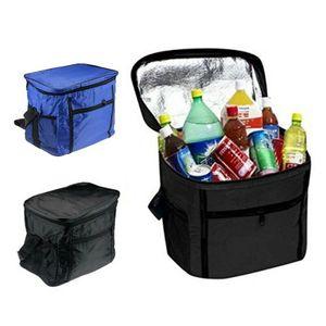 27L Hoch Flasche Kühltasche, Essen & Getränke Kühltasche, BBQ Picknick Isolierte Kühl Box Blau
