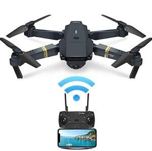 Mini Drohne,UAV mit 720P HD-Kamera, 120 ° Weitwinkel-WLAN-FPV-Hubschrauber, Taschen-UAV für Anfänger, schwarz