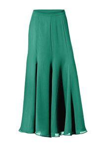 ashley brooke elegant schwingender Damen Chiffon-Rock Grün, Größe:40
