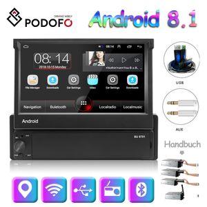 Podofo Android 8.1 Autoradio 1 Din 7 Zoll Auto Multimedia Player 1G + 16G GPS Navigation Wifi Auto MP5 Bluetooth USB FM Unterstützung Rückfahrkamera