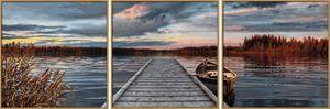 Noris Spiele Malen nach Zahlen - Sonnenaufgang am See (Tript.); 609470754