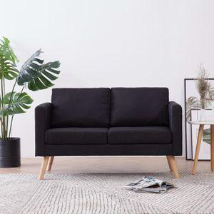 dereoir 2-Sitzer-Sofa Stoff Schwarz