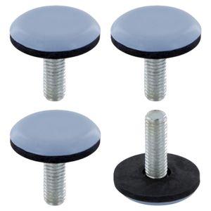 4x Möbelgleiter mit gewinde M6 x 23 mm teflongleiter gewindegleiter stellfüße teflon