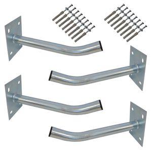 4x PremiumX Autoreifen Wandhalter 35cm Reifenhalter für Auto Felgen Reifen Wandhalterung inkl. Montage Schraubensatz