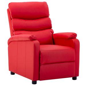 【Neu】Sessel Liegesessel Rot Kunstleder Gesamtgröße:72 x 98 x 98 cm BEST SELLER-Möbel-Stühle-Sessel im Landhaus-Stil