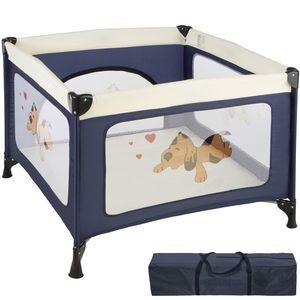 tectake Baby Laufstall Tommy Junior - blau