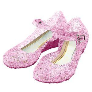 Rosa, Pinke Frozen Prinzessin Anna, Dornröschen, Aurora, Sleeping Beauty Schuhe, Karneval, Fasching für Kinder, EU Gr. 31 - CN33