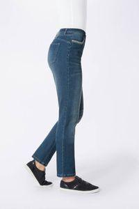 WITT WEIDEN Damen Jeans mit Stickerei, blau-used, Größe:36