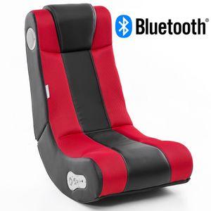 WOHNLING® Soundchair InGamer mit Bluetooth | Musiksessel mit eingebauten Lautsprechern | Multimediasessel für Gamer | 2.1 Soundsystem - Subwoofer | Music Gaming Sessel Rocker Chair , Farbe Artikel:Rot/Schwarz