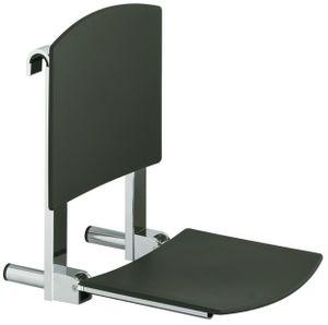 Keuco Klappsitz CARE PLAN Sitzfläche 360 mm verchromt/schwarzgrau