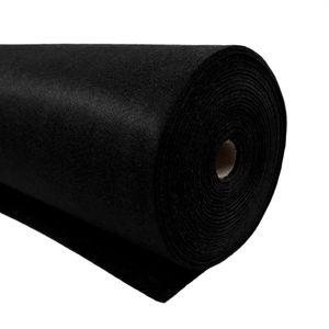 Bastelfilz 1m Meterware Filz 90cm x 1,5mm Dekofilz Taschenfilz Filzstoff 39 Farben, Farbe:schwarz