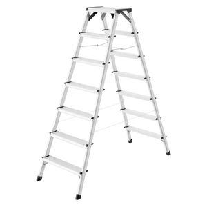 Hailo D60 StandardLine Doppelstufenleiter 2x7 Stufen