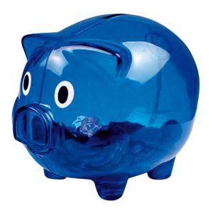 Sparschwein / Farbe: transparent blau