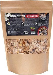 Räucherchips von JSM®   100% Natürliche Smoker-Holzchips für besondere Rauch- und Geschmackserlebnisse   Für alle Grills geeignet   Extra große Packung - 1 kg (Kirsche)