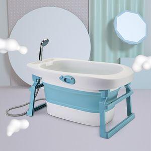 Babybadewanne ,Babywanne, Baby, Kunststoff Blau 3 in 1 erweiterbare faltbare Babybadewanne