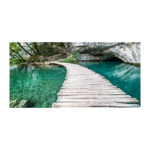 Tulup® Leinwandbild -100x50 cm - Wandkunst - Drucke auf Leinwand - Leinwanddruck  - Landschaften - Blau - Plitvicer Seen